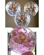"3 Czech Crystal Glass Buttons #B292 - 32 mm or 1-1/4"" - IRIDESCENT - RARE RELIEF"