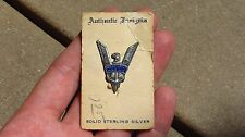 WW2 USMS US Merchant Marine Maritime Officers Pin Insignia Badge Victory on Card