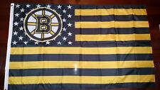 Boston Bruins 3x5 American Flag. US seller. Free shipping in the US