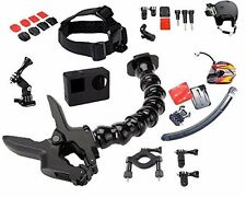 GO PRO ACCESSORY KIT MADE FOR BIKE / MOTORCYCLE / DIRT BIKE / ATV, 22 piece