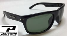 NEW Peppers Eclipse Black G15 Grey Polarized Mens Sport Wrap Sunglasses Msrp$35