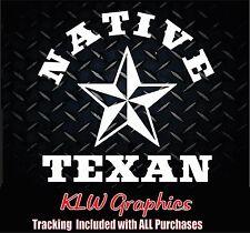 Native Texan * Truck Texas Diesel sticker Truck Car Window 1500 2500 Decal