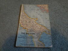 """February 1962 National Geographic Map Insert """"The Balkans"""""""