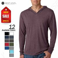 NEW Next Level Premiun Men's Triblend Long Sleeve T-Shirt Hoodie M-N6021