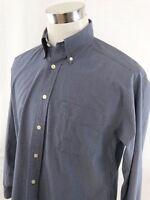 Tommy Hilfiger Golf Mens Cotton Long Sleeve Button Down Shirt M - Blue Checkered