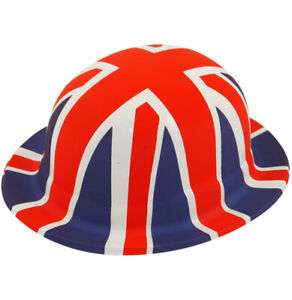 6/12/18/24 Great Britain Union Jack Red/White/Blue Plastic Bowler Hat