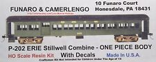 LMH Funaro F&C 202 P-202  ERIE STILLWELL  Passenger Car COMBINE  1-PC w/ TRUCKS