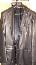 Banana Republic jacket 3/4 length style size L black leather