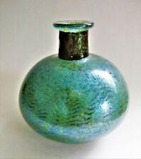 A Signed 1990 Siddy Langley art glass Vase