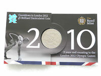 2010 Royal Mint London 2012 Olympic Games Countdown BU £5 Five Pound Coin Pack