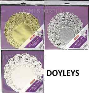 24 PACK DOYLEYS DOILEYS DOILLIES 2 SIZES PAPER PLATE DECORATION WEDDING PARTY