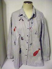 Women's Bobbie Brooks  Shirt  XL ( 16 - 18 ) Embellished Button Down