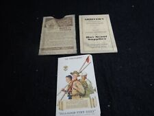 VIntage Boy Scout and Shriners cards be prepared card lot