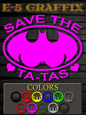 Breast Cancer Save The Ta-Tas Pink boobies vinyl decal sticker