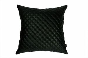 Home Decorative 100% Lambskin Leather Diamond Lattice Pattern Pillow Cover