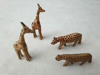 Wooden Toy Giraffes and Wooden Toy Leopards