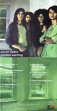 """Golden Earring """"Seven tears"""" Mit """"She flies on strange wings""""! Von 1971! Neue CD"""