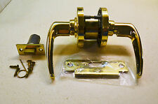 Gold Tone Schlage Lever Door Handle Set D-Series, Passage Lever & Instructions