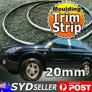 20mm x14M Soft PVC Chrome Mouldings Trim Tape Strip Auto 4WD Exterior Decoration