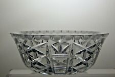 CUT GLASS CRYSTAL SERVING BOWL