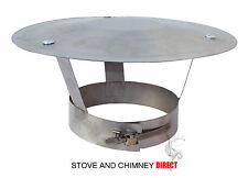 Rain Cap for Flue Pipe Flexible Liner/ Chimney Pot (6 inch Stainless)