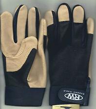Rugged Wear Men's Hi-Dexterity Black Spandex-Pigskin Leather Work/Drive Glove