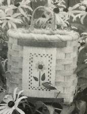 Basket Weaving Pattern Sunflower Pocket by Maurine Joy