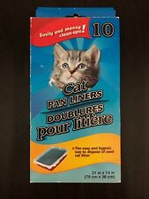 Cat Pan Litter Box Liners - 10 Disposable Bags - 31in x 14in.
