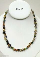 """COLORFUL NATURAL QUARTZ CRYSTAL CHIP NECKLACE 18"""" DISCO Variety Stone Stunning"""