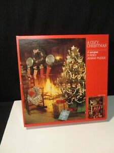 """A Cozy Christmas"" / A Springbok 2-Sided Jigsaw Puzzle USED"