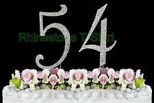 Large Rhinestone NUMBER (54) Cake Topper 54th Birthday Wedding Party Anniversary