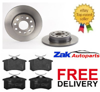 AUDI A3 MK2 1.9 2.0 TDi SPORT S-LINE FSi REAR BRAKE DISCS & PADS SET NEW
