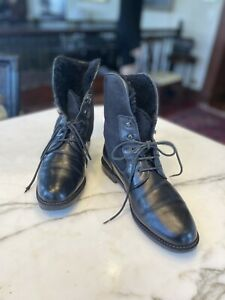 Bally Black Combat-Style Boots Size 38