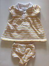 Ralph Lauren Dress and Bloomers Set - Girls 3M - Yellow Stripes NWOT