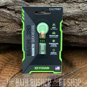 EXOTAC BMQR .380 STAINLESS STEEL MAGNETIC QUICK RELEASE KEYRING FREE KEY EDC