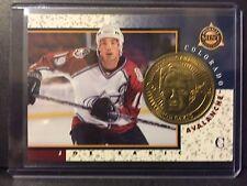 Joe Sakic 1997-98 Pinnacle Mint Die-Cut Card with Brass Coin #12