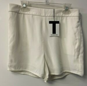 T Alexander Wang Cream shorts with pockets size 4 NWT's