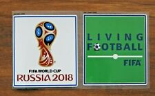 FIFA World Cup Russia 2018 & Living Football Sleeve Patches/Badges Player Issue