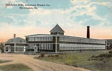 Skowhegan Maine American Woolen Co Arms Mills Antique Postcard (J34753)