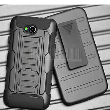 FOR LG OPTIMUS L90 D410 D405 BLACK RUGGED HYBRID HARD CASE COVER CLIP HOLSTER