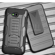 Armor Shockproof Rubber Hybrid Hard Case Cover Holster Stand For LG Optimus L90
