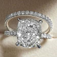 2pcs Fashion White Sapphire 925 Silver Filled Ring Set Wedding Women Wedding