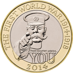 WORLD WAR I CENTENARY 100YRS TWO POUND COIN FREE DELIVERY