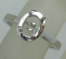 925 Sterling Silver 5.0x7.0mm Oval Shape Semi Mount Ring Jewelry Free Shipping