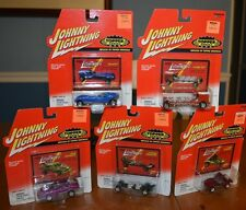 JOHNNY LIGHTNING RARE TOPPER SERIES 5 CAR COLLECTION REPLICAS OF ORIGINALS NICE
