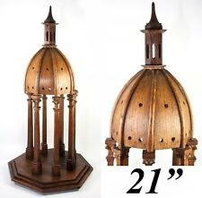 Antique French Hand Made Chapel Cupola, Dome, Architectural Apprentice Miniature