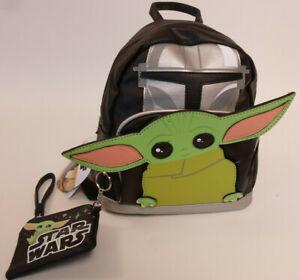 "Disney Stars Wars Baby Yoda Mandalorian KIDS Mini Backpack Coin Purse 10x8x5"""