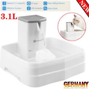 3.1L Trinkbrunnen Haustier Automatisch Wasserspender für Katzen Hunde mit Filter