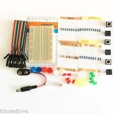 Electronics Part Pack Kit Kit-5 For Arduino Starter LEDs Board Resistor Switch