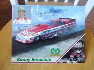 "Kenny Bernstein ""BUD KING / QUAKER STATE"" F/C NHRA Handout, Postcard"